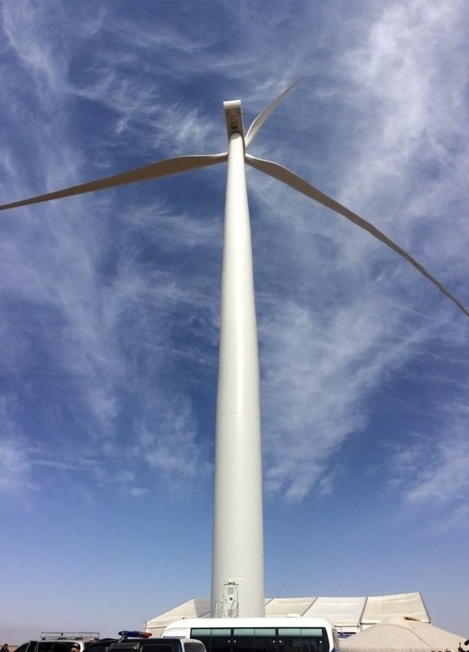 ウムヌゴビ県ツェツィー風力発電所完工式 在モンゴル日本国大使館